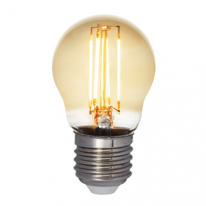 Filament LED-lampa E27 klot med antique glas. Motsvarande 35W glödlampa. Dimbar.