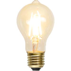 filament led normal och knopp med ett extra varmt ljus.