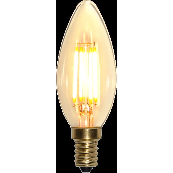 Filament-LED kron 4W(35W) E14, soft glow dimbar