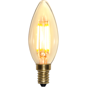 Filament-LED kron 4W(35W) E14, soft glow dimbar