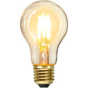 filament led normal med ett extra varmt ljus.