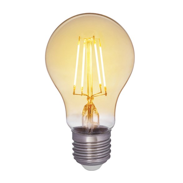 Filament LED-lampa E27 med antique glas. Motsvarande 30W glödlampa. Dimbar.