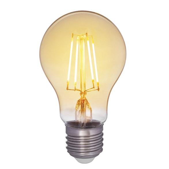 Filament LED-lampa E27 med antique glas. Motsvarande 35W glödlampa. Dimbar.