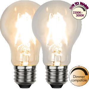 Filament-LED normal 4W(28W) E27, dim to warm