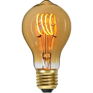 Flexifilament led i normalstorlek med knopp. Lampan har ett extra gult glas.