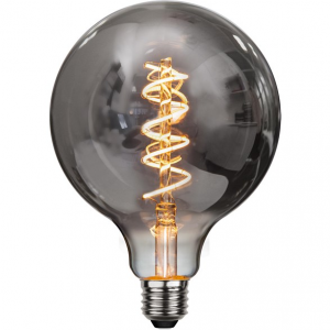 Flexifilament LED-lampa 125 millimeter E27 med ett vackert rökfärgat glas. Motsvarar en 15W glödlampa. Dimbar.