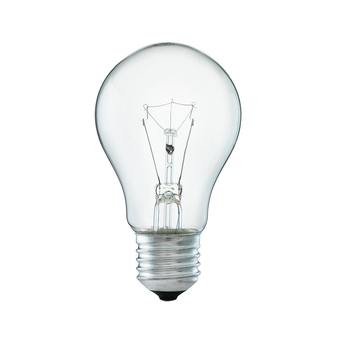 Glödlampa 60W normal E27, klar