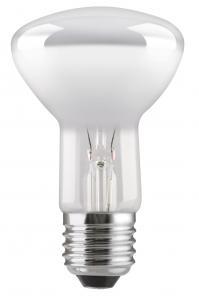En glödlampa reflektor i R63 med E27 sockel, 60W