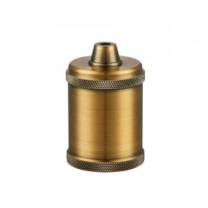 En lamphållare i rå metall, antik med E27 sockel, ojordad