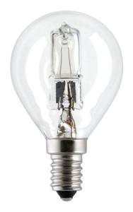 Halogenlampa 18W(25W) klot E14, klar
