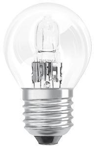 Halogenlampa 18W(25W) klot E27, klar
