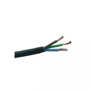 Svart plastsladd. Jordad kabel. Finns i flera olika längder.