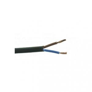 Svart plastsladd. Ojordad kabel. Finns i flera olika längder.