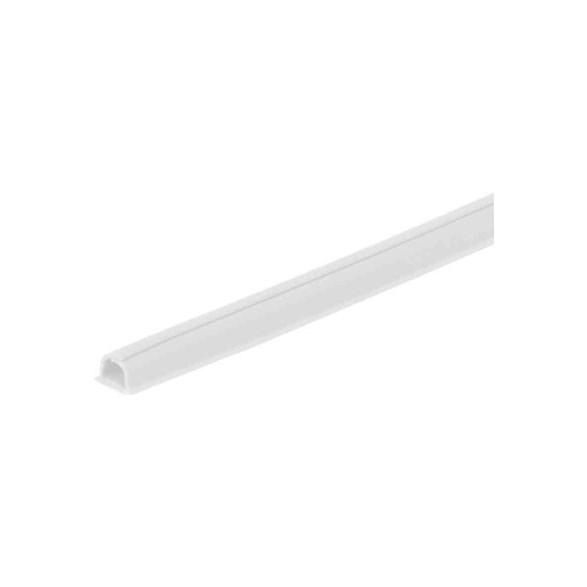 kabellist vit från cablefix med måtten 10,5 millimeter. Böjbar.