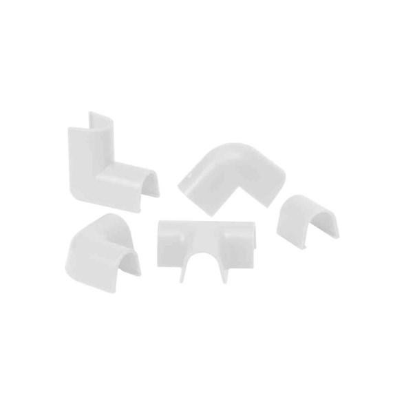 Skarvsats vit för kabelkanaler med måtten 10,5 millimeter från cablefix.