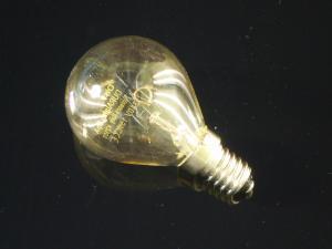 En klassisk glödlampa E14 i klar glas, 25W