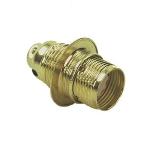 Lamphållare E14 mässing, jordad