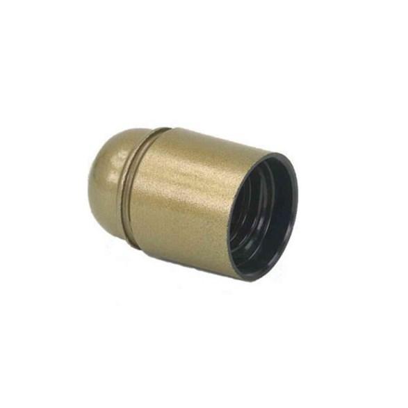 Lamphållare E27 plast guld slät, jordad