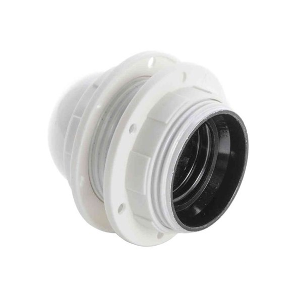 Lamphållare E27 vit, jordad
