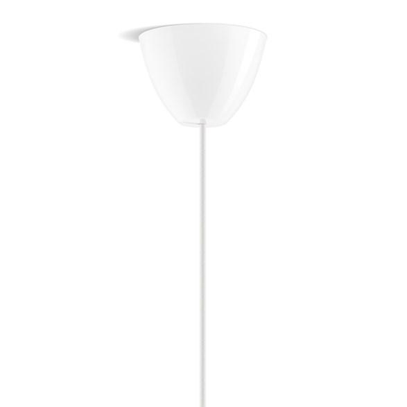 Takkopp round i blankvit från Dezall. Lätt montering och rund i designen.