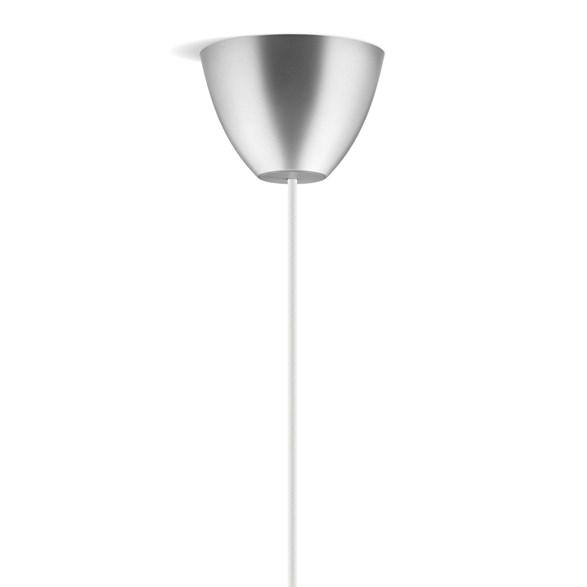 Takkopp round i silverfärg från Dezall. Lätt montering och rund i designen.