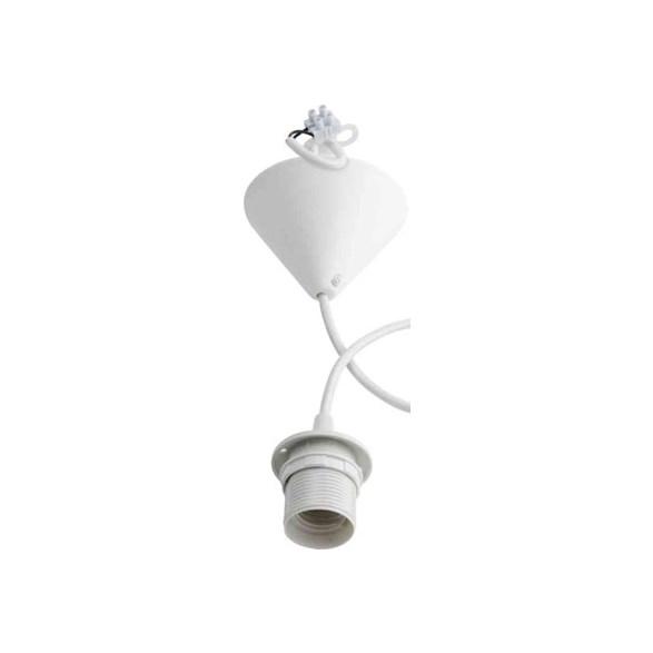 Prisvärt lampupphäng vit med E27 1,8 meter med vit lamphållare.