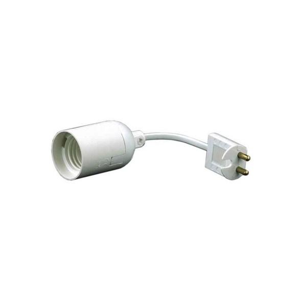 Lampupphäng vit med kort plast sladd. E27 sockel. Passar perfekt under kortare perioder.