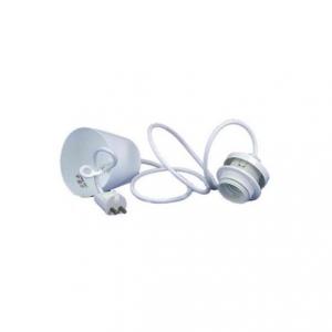 Prisvärt lampupphäng vit med E27 1,2 meter med vit lamphållare.