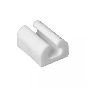 Ledningshållare vit med självhäftande tejp. 10-pack.