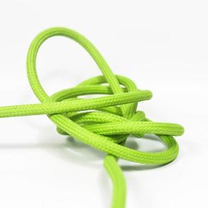 Ljusgrön textilsladd ojordad kabel. Finns i flera olika längder.