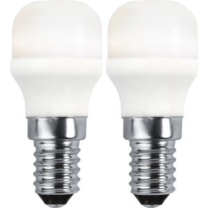 Päron-LED 1,5W(15W) E14, opal 2-pack
