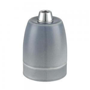 Lamphållare E27 porslin grå, ojordad