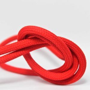 Röd textilsladd ojordad kabel. Finns i flera olika längder.
