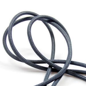 Tennfärgad (nät) textilkabel. Kabeln är ojordad och finns i flera olika längder.