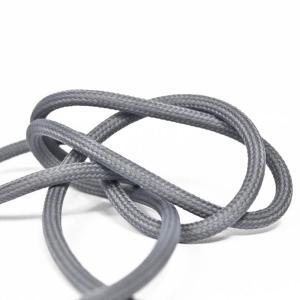 Tennfärgad textilkabel. Kabeln är ojordad och finns i flera olika längder.