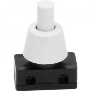 Tryckströmbrytare vit/svart, 1-pol