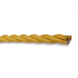 Textilkabel tvinnad guld, jordad