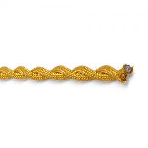Textilkabel tvinnad guld, ojordad