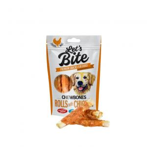 Lets Bite Chewbones, Rolls with Chicken 110 g