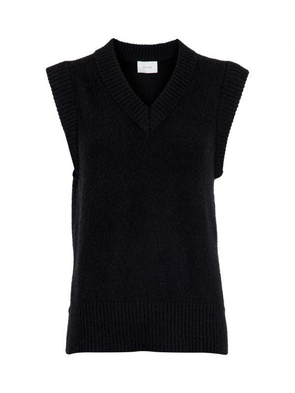Trevi Knit Waistcoat Black