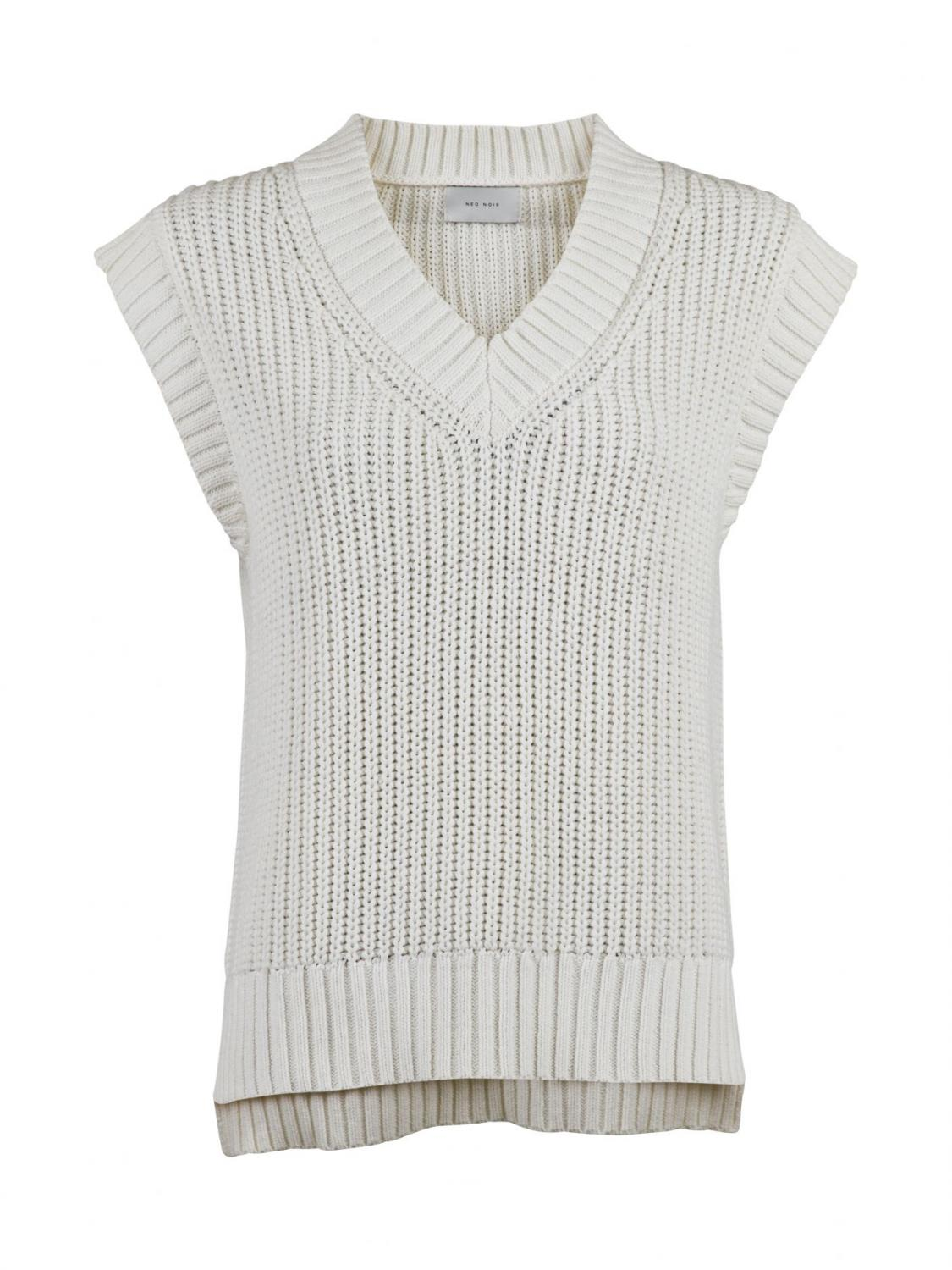 Kaylee Spring Knit Waistcoat Off White
