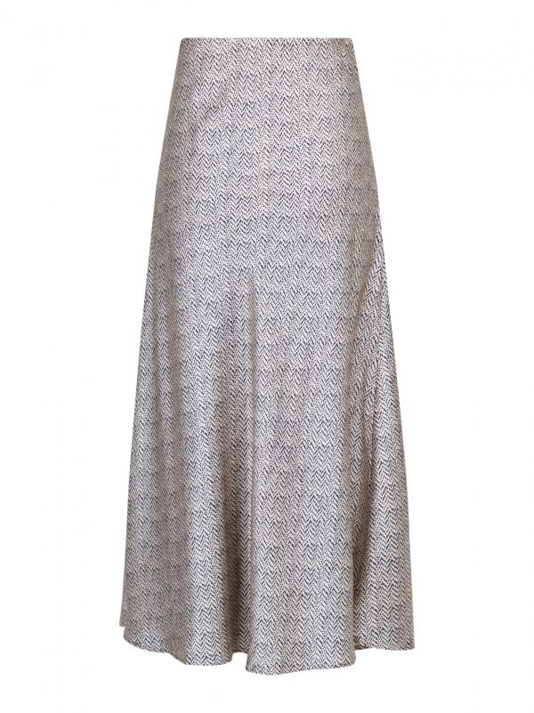 Bovary Dot Satin Skirt