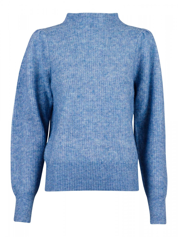 Marlia Knit Blouse Blue Melange