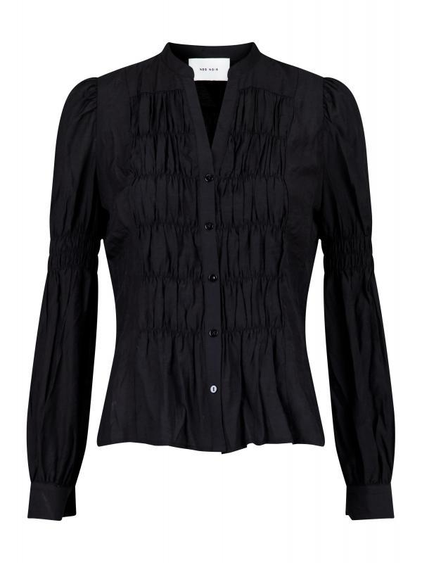 Rachel Smock Shirt Black