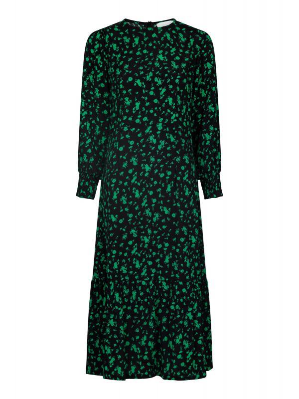 Vika Shade Flower Dress Green