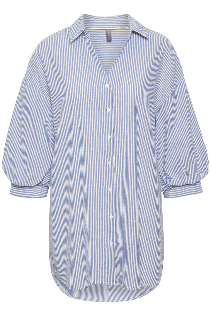 CUolena Tunic Blue Stripe