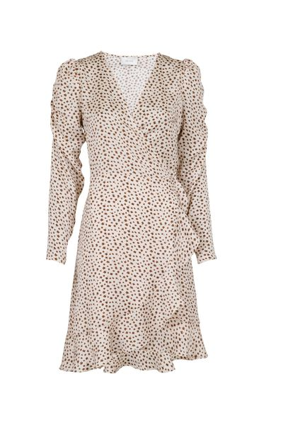 Brandy Gloomy Flower Dress Camel Multi/Mönstrad