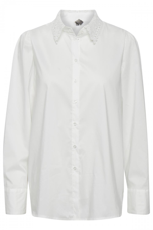 CUantona Lace Shirt Spring Gardenia
