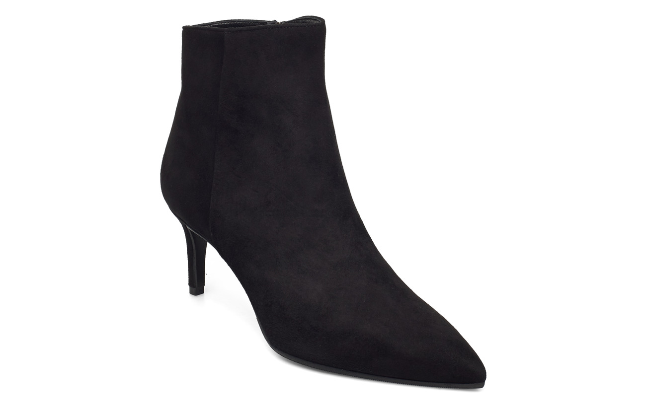 Pointed Bootie Low Black