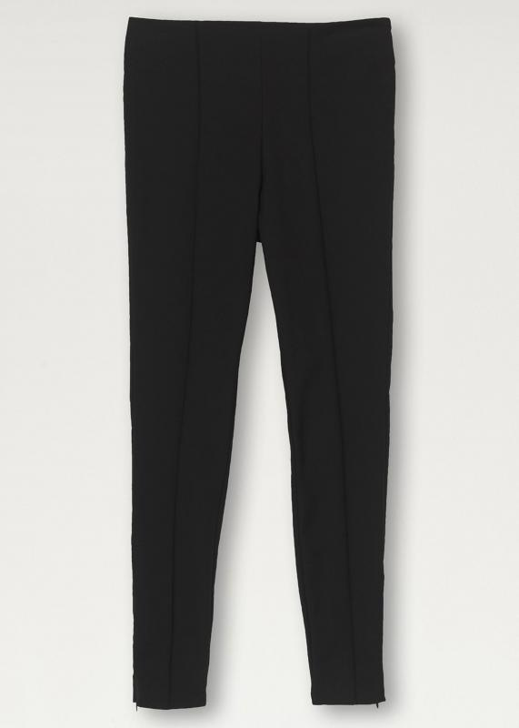 Stretch-Cotton Trousers Black